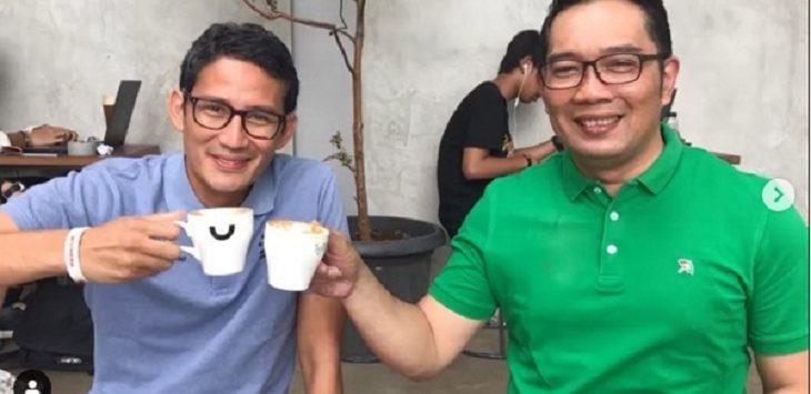 Sandiaga Uno dan Ridwan Kamil./Foto: Instagram