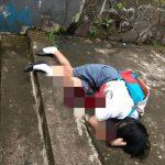 Siswi SMK korban penusukan di gang di Jalan Riau Kota Bogor (adi)