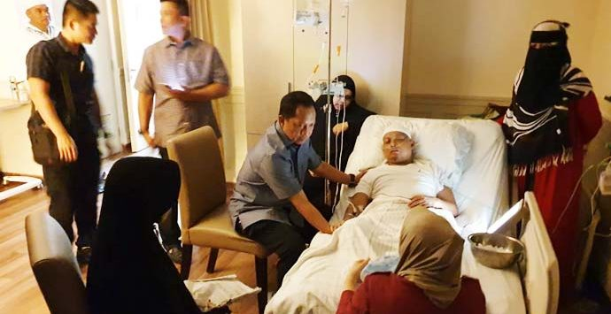 Ustadz Arifin Ilham saat dijenguk Kapolri Jenderal Tito Karnavian