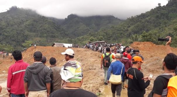 Evakuasi korban Longsor Sirnaresmi, Sukabumi