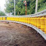 DIBENAHI: Jalur tengkorak Cikidang dibenahi dengan dipasangi roller barier dan PJU untuk menekan angka kecelakaan