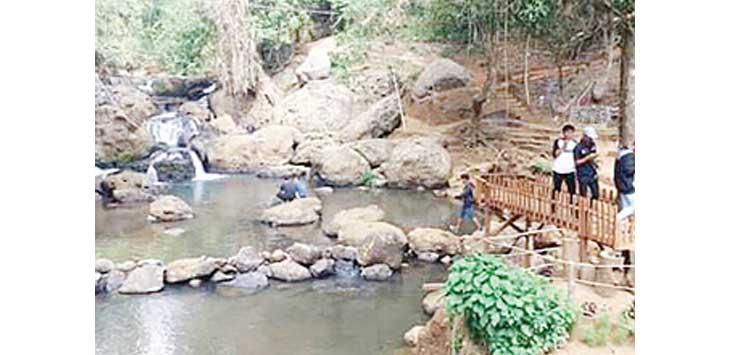 DIKEMBANGKAN: Objek wisata Curug Pemempek, Desa Ciengang, Kecamatan Gegerbitung yang saat ini tengah dikembangkan.