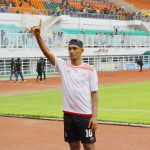 Bruno Oliveira de Matos, selebrasi usai mencetak dua gol untuk Persija ke gawang Tira-Persikabo (rishad)