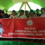 Deklarasi Barisan Milenial Kabupaten Cirebon Kubu Jokowi-MA (kirno)