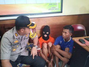 Dua pelaku pencurian sepeda motor yang diamankan Polres Majalengka (kirno)