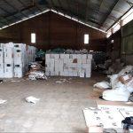 Gudang logistik kotak suara di Kecamatan Plumbon