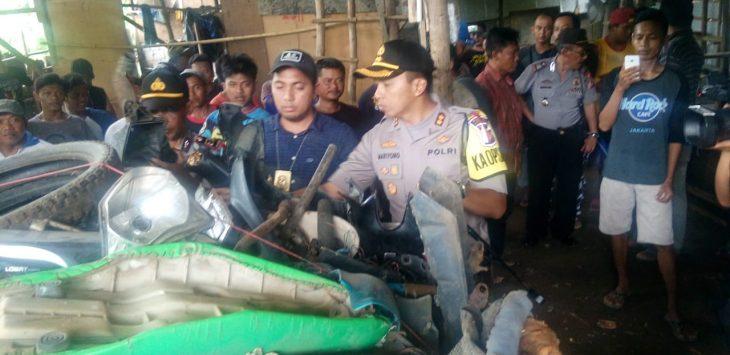Gudang sepeda motor hasil curian yang dibongkar Polres Majalengka (ist)