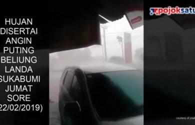Hujan disertai angin puting beliung di Sukabumi