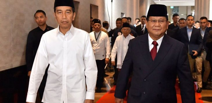 Jokowi dan Prabowo saat debat capres  (ist)