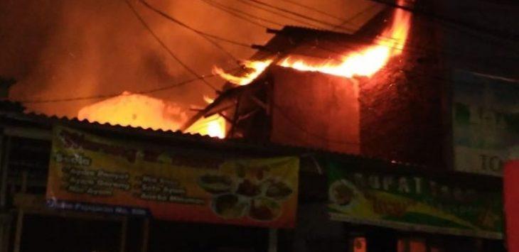 Kebakaran di Bandung, Selasa (12/2/2019)./Foto: Istimewa