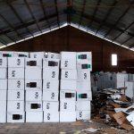 Kondisi kotak suara di KPU Kabupaten Cirebon