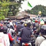 Kondisi perempatan Bantar Kemang Kota Bogor semrawut akibat ditutupnya Jalur R3 (ist)