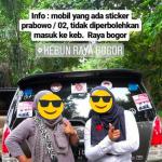 Mobil berstiker Prabowo-Sandi Dilarang Masuk Kebun Raya Bogor
