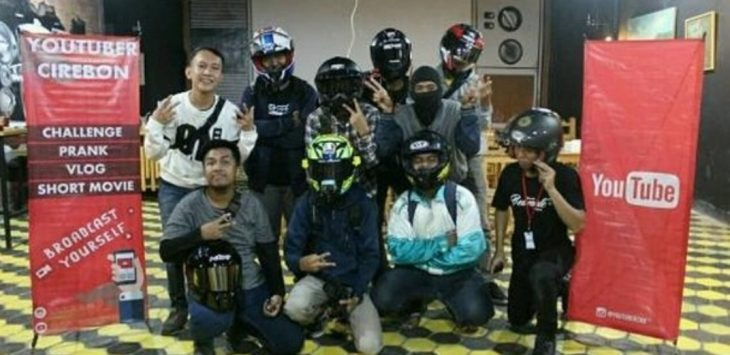 Motovlog Youtuber Cirebon./Foto: Istimewa