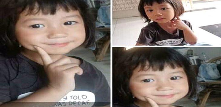 Bocah cantik usia 3 tahun Bunga Jahrotun Nikmah yang hilang di pinggir Sungai Wadas. (ist)
