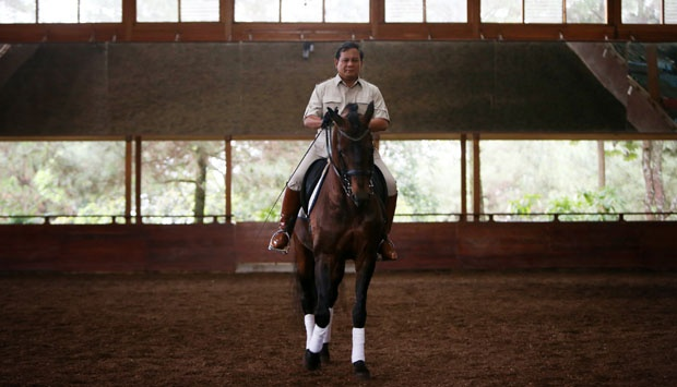 Pacuan kuda di Rumah Prabowo Subianto (foto istimewa)