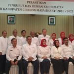 Pelantikan pengurus PMI Kabupaten Cirebon (ist)
