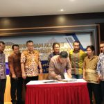 Penandatangan MoU antara DPP HA IPB dan DPK HA IPB Disaksikan Rektor IPB, Arif Satria (ist)