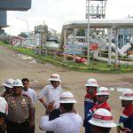 Polres Indramayu bersiap melakukan pengecekan di lokasi kebakaran Pertamina EP Balongan2