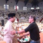 Rocky Gerung bersama Prabowo Subianto pada satu acara (Ist)