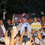 Sandiaga Uno bersama warga di Kelurahan Nanggewer Cibinong Kabupaten Bogor (rishad)