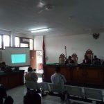 Suasana persidangan di PN Tipikor Bandung dengan saksi pejabat Lippo (arif)