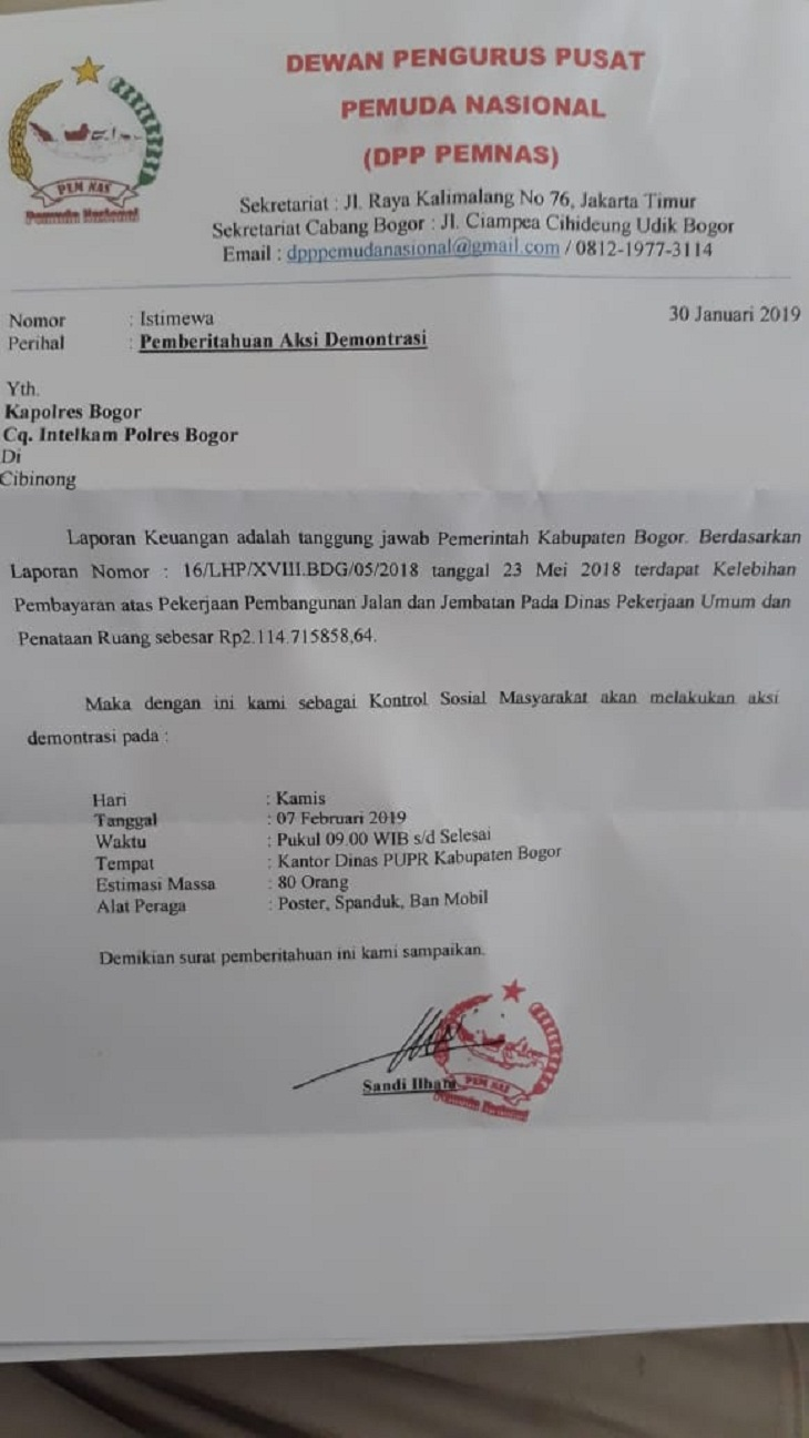 Surat DPP Pemnas