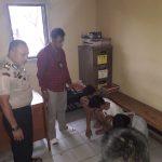 Tiga pencuri gas melon yang diciduk polisi karena kerap beraksi di Pasar Ciampea Bogor