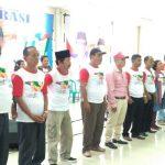 Masyarakat Suku Batak di Kabupaten Bekasi deklarasi dukungan untuk Jokowi-Ma'aruf Amin.
