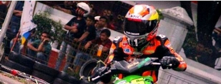 Pembalap Cirebon, Wahyu Raharjo, saat di arena balap./Foto: Istimewa