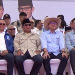 Capres Prabowo bersama AHY dan kubu O2 lainnya saat kampanye terbuka di Kota Bandung (ist)