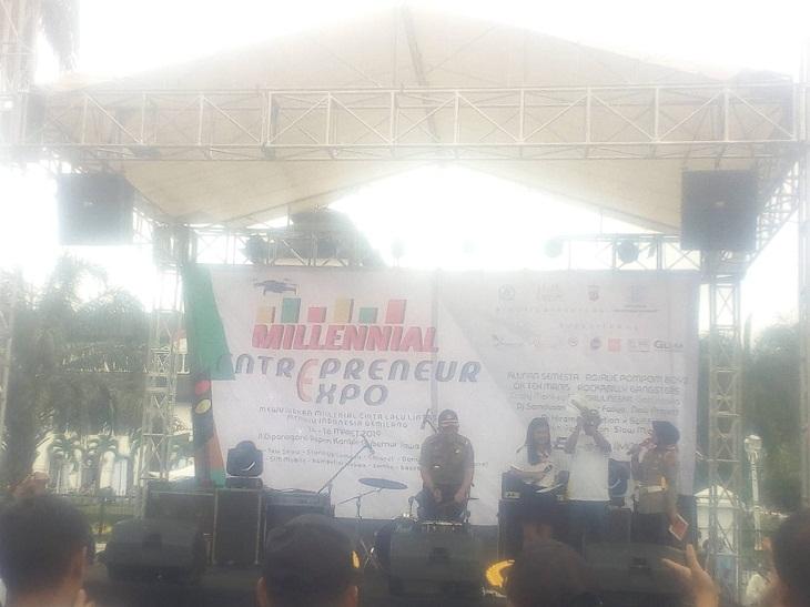 Demi Masa Depan Gemilang, Polrestabes Bandung Gelar Enterpreneur Expo Milenial