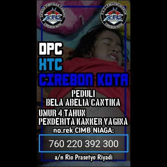 Donasi XTC Cirebon Kota untuk pengobatan Bela