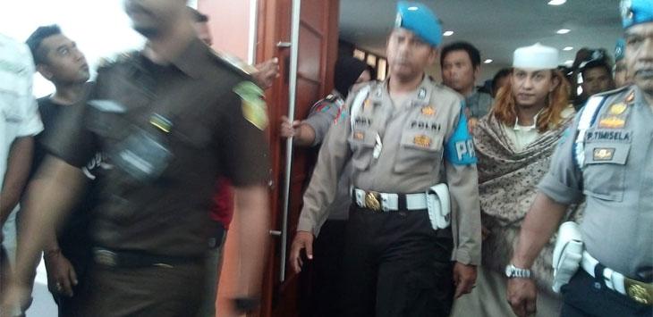 Sidang Habib Bahar bin Smith di gedung arsip perpusatakaan kota Bandung. (Arief)