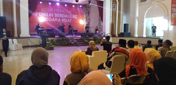 Konser musik KPU Kota Sukabumi./Foto: Rmol