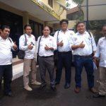 Ketua Divisi Hukum LBH Pospera Sarmanto Tambunan bersama kawan-kawannya saat di Mabes Polri (ist)