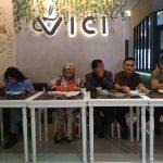 Komite Musik dari DK3B dan pembina Kominatas Penyanyi Jalanan (KPJ) Kota Bogor gelar konferensi pers terkait anggota KPJ yang ditangkap narkoba (adi)