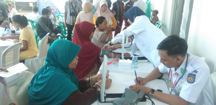 PT KAI Daop 3 gelar bakti sosial Rail Clinic di stasiun Jatibarang, Indramayu, Selasa (26/3/2019). Kirno/pojokjabar