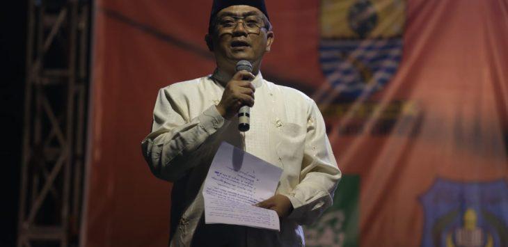 Walikota Cirebon, Nasrudin Azis saat memberikan sambutan. Alwi/pojokjabar
