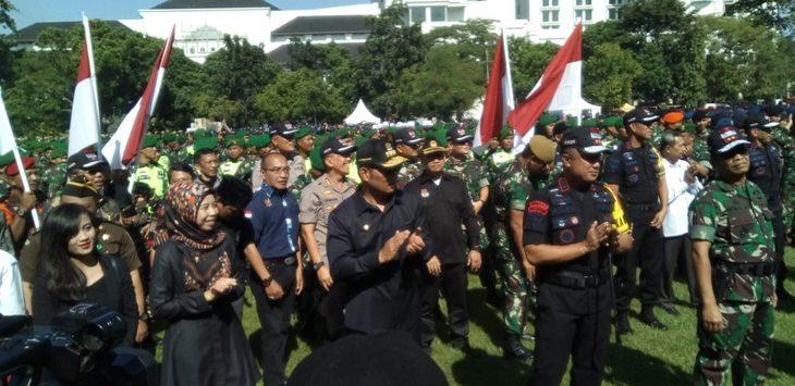 Polda Jabar dan Kodam Siliwangi Gelar Apel Siaga Pemilu,, Lapangan Gedung Sate, Jumat (22/3.2019)./Foto: Arief