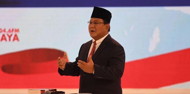 Prabowo Subianto di debat capres keempat Pilpres 2019 (ist)