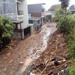 Salah satu lokasi banjir bandang di wilayah Bandung yang terjadi Selasa (arif)