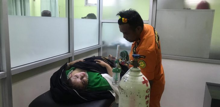 Salah seorang korban helikopter jatuh di Tasikmalaya Jawa Barat, Hj Tuti Budiawati  (arif)