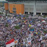 Suasana kampanye terbuka Prabowo di Halaman Stadion Pakansari Cibinong Kabupaten Bogor (FB)