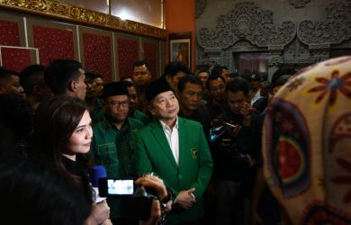 Suharso Monoarfa dikukuhkan menjadi Plt Ketua Umum PPP di Cisarua Bogor (rishad)