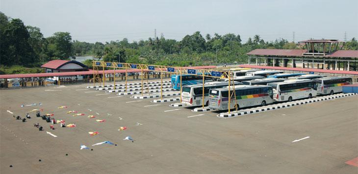 Suasana Terminal Jatijajar yang berada di Kelurahan Jatijajar, Kecamatan Tapos. Ahmad Fachry/Radar Depok