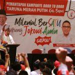 Kaum milenial Kabupaten Bekasi Deklarasi Menangkan Pasangan Jokowi-Ma'aruf Amin.