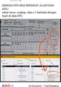 Input data KPU yang disebut curang (ist)