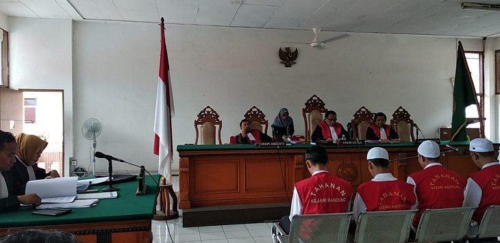 Sidang kasus pembunuhan Haringga Sirla, Selasa (9/4/2019)./Foto: Arief