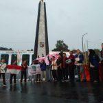 Aksi KAMMI Bogor di depan Tugu Kujang Kota Bogor, Senin (15/4) (adi)